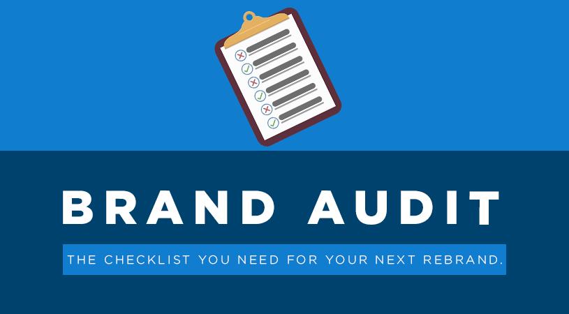 Brand audit checklist graphic