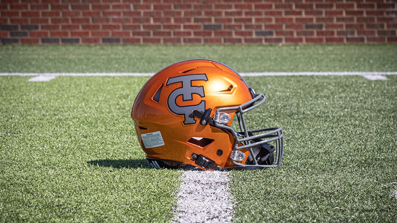 Tocoi Creek High School football helmet