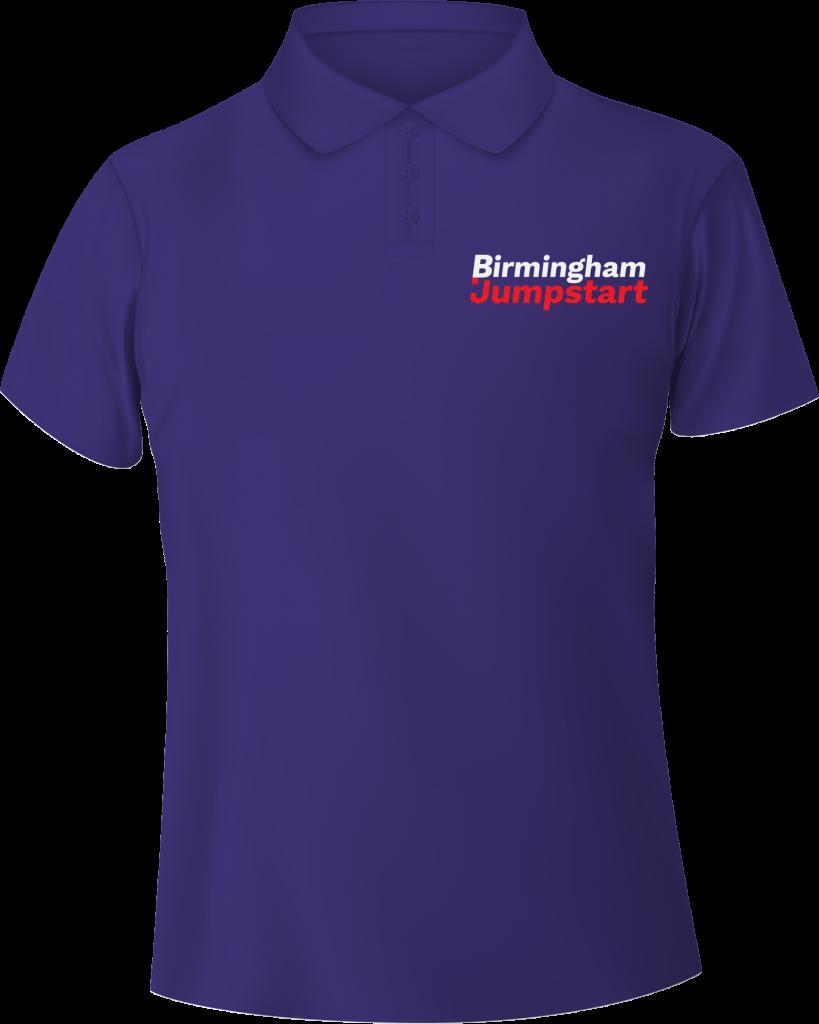 Birmingham Jumpstart purple polo